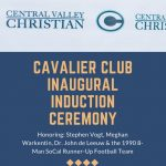 Inaugural Induction Ceremony of the Cavalier Club